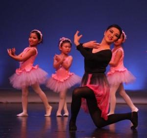 Jia Min Lu performing ballet