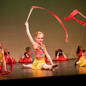 Chinese Ribbon Dance at Julia Morgan Theater