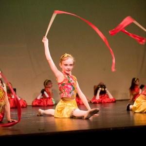 Chinese Ribbon Dance at Julia Morgan Theater