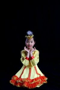 Picture of Wendy's Daughter Performing Xinjiang Dance
